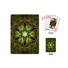 Fractal Fantasy Design Background Playing Cards Single Design (mini)