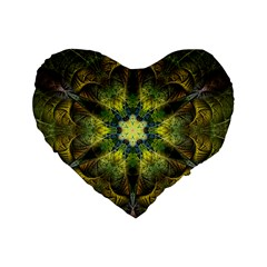 Fractal Fantasy Design Background Standard 16  Premium Flano Heart Shape Cushions