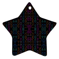 Neon Geometric Seamless Pattern Ornament (star)