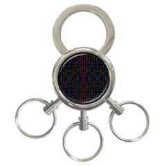 Neon Geometric Seamless Pattern 3-ring Key Chain