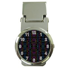 Neon Geometric Seamless Pattern Money Clip Watches