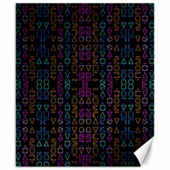 Neon Geometric Seamless Pattern Canvas 20  X 24