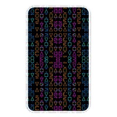 Neon Geometric Seamless Pattern Memory Card Reader (rectangular)