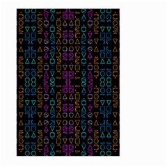 Neon Geometric Seamless Pattern Large Garden Flag (two Sides)
