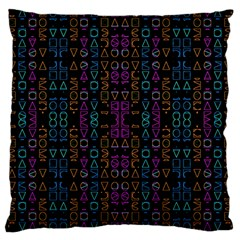 Neon Geometric Seamless Pattern Large Cushion Case (two Sides)