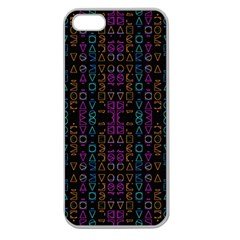 Neon Geometric Seamless Pattern Apple Seamless Iphone 5 Case (clear)