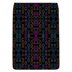 Neon Geometric Seamless Pattern Removable Flap Cover (l)