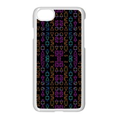 Neon Geometric Seamless Pattern Iphone 8 Seamless Case (white)