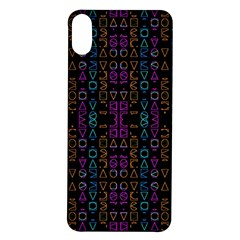 Neon Geometric Seamless Pattern Iphone X/xs Soft Bumper Uv Case
