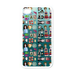 Kawaiicollagepattern2 Iphone 4 Case (white) by snowwhitegirl
