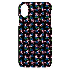 Goth Girl In Blue Dress Black Pattern Iphone X/xs Black Uv Print Case by snowwhitegirl