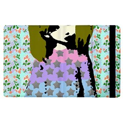 Girl With Star Striped Dress Apple Ipad Pro 12 9   Flip Case by snowwhitegirl