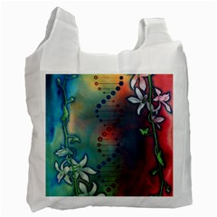 Flower Dna Recycle Bag (two Side)