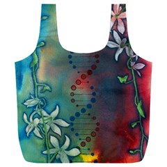 Flower Dna Full Print Recycle Bag (xxl)