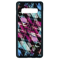 Matrix Grunge Print Samsung Galaxy S10 Plus Seamless Case (black)