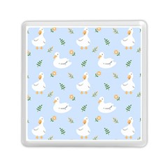Duck Flower Seamless Pattern Background Memory Card Reader (square)