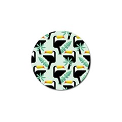 Seamless Tropical Pattern With Birds Golf Ball Marker (10 Pack)