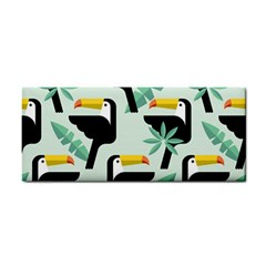 Seamless Tropical Pattern With Birds Hand Towel