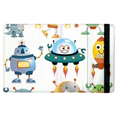 Vector Set Funny Robots Cartoon Apple Ipad 3/4 Flip Case