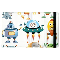 Vector Set Funny Robots Cartoon Apple Ipad Pro 9 7   Flip Case