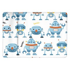 Seamless Pattern With Funny Robot Cartoon Samsung Galaxy Tab 10 1  P7500 Flip Case