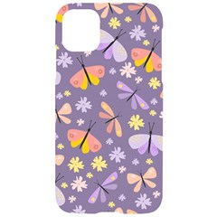Vector Seamless Pattern With Butterflies Beetles Iphone 11 Black Uv Print Case