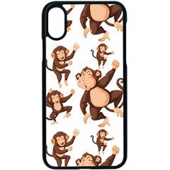 Monkey Seamless Pattern Iphone X Seamless Case (black)