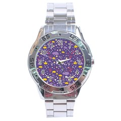 Pattern Cute Clouds Stars Stainless Steel Analogue Watch by Bejoart