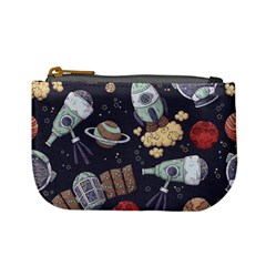 Hand Drawn Pattern Space Elements Collection Mini Coin Purse