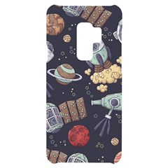 Hand Drawn Pattern Space Elements Collection Samsung S9 Plus Black Uv Print Case