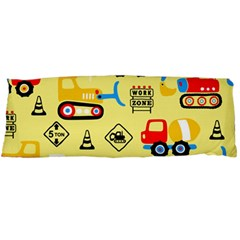 Seamless Pattern Vector Industrial Vehicle Cartoon Body Pillow Case Dakimakura (two Sides)