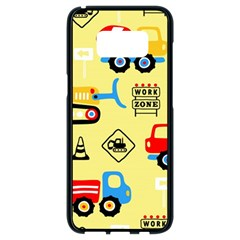 Seamless Pattern Vector Industrial Vehicle Cartoon Samsung Galaxy S8 Black Seamless Case