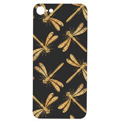 Golden Dragonfly Seamless Pattern Textile Design Wallpaper Wrapping Paper Scrapbooking Iphone 7/8 Soft Bumper Uv Case by Bejoart