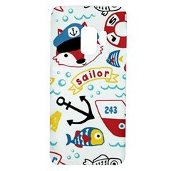 Seamless Pattern Vector Sailing Equipments Cartoon Samsung Galaxy S9 Tpu Uv Case by Bejoart