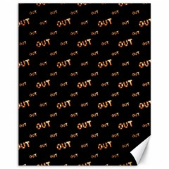 Out Word Motif Print Pattern Canvas 11  X 14  by dflcprintsclothing