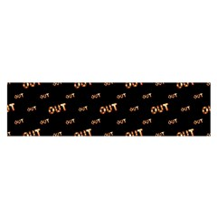 Out Word Motif Print Pattern Satin Scarf (oblong)