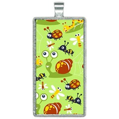 Little Animals Cartoon Rectangle Necklace