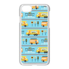 Buses Cartoon Pattern Vector Iphone 8 Seamless Case (white)