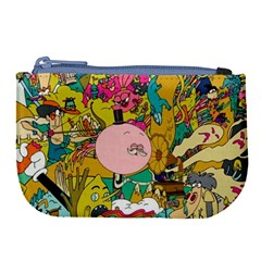 Cartoon Wallpapers Large Coin Purse by Bejoart