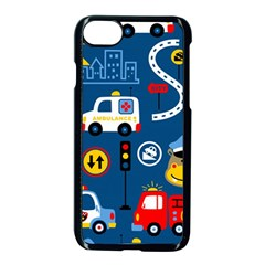 Seamless Pattern Vector Rescue Team Cartoon Iphone 7 Seamless Case (black)
