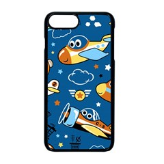 Seamless Pattern With Nice Planes Cartoon Iphone 8 Plus Seamless Case (black)