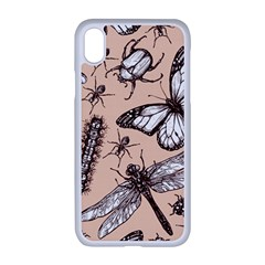 Vintage Drawn Insect Seamless Pattern Iphone Xr Seamless Case (white) by Bejoart
