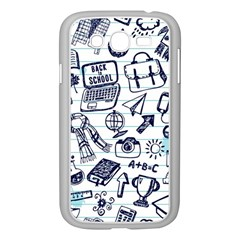 Hand Drawn Back School Pattern Samsung Galaxy Grand Duos I9082 Case (white)