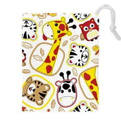 Vector Seamless Pattern Nice Animals Cartoon Drawstring Pouch (5xl)