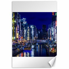 Dotonbori Night Scene - Osaka, Japan Canvas 24  X 36