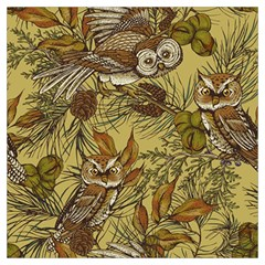Forest Vintage Seamless Background With Owls Long Sheer Chiffon Scarf