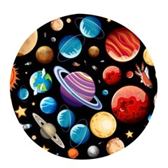 Background With Many Planets Space Pop Socket (black)
