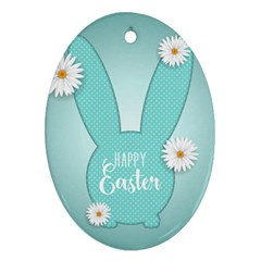 Easter Bunny Cutout Background 2402 Ornament (oval)