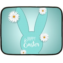 Easter Bunny Cutout Background 2402 Fleece Blanket (mini) by catchydesignhill