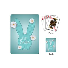 Easter Bunny Cutout Background 2402 Playing Cards Single Design (mini) by catchydesignhill